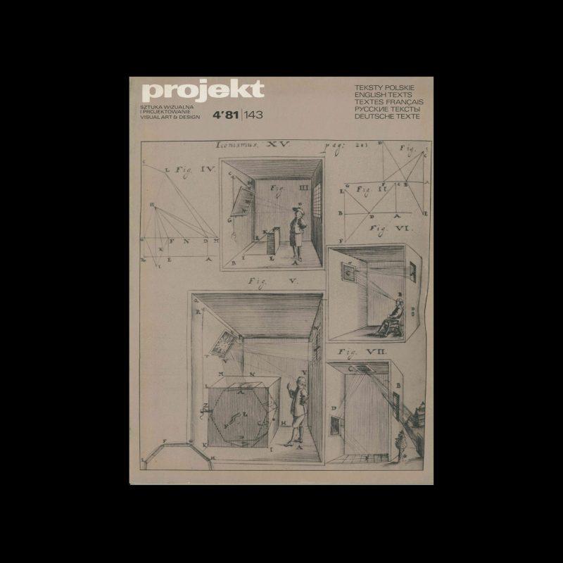 Projekt 143, 4, 1981. Cover design by Hubert Hilscher