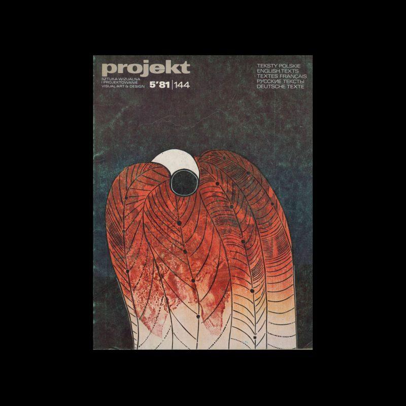 Projekt 144, 5, 1981. Cover design by Zbigniew Lutomski