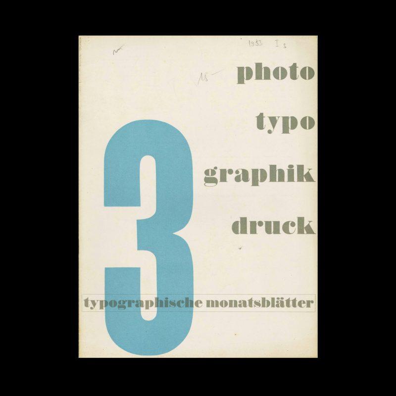 Typografische Monatsblätter, 3, 1933