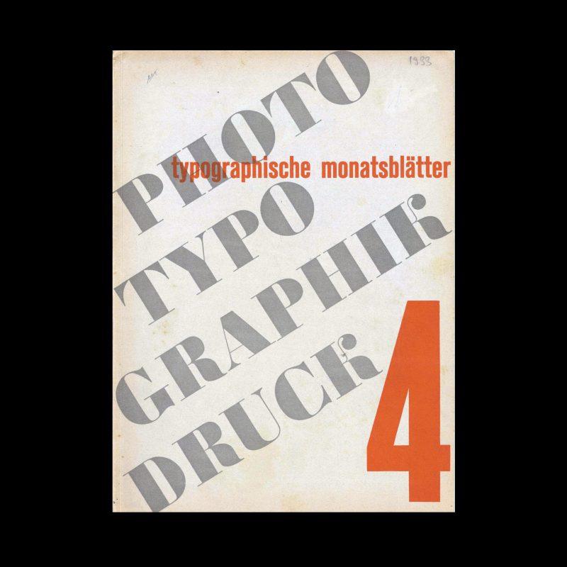 Typografische Monatsblätter, 4, 1933
