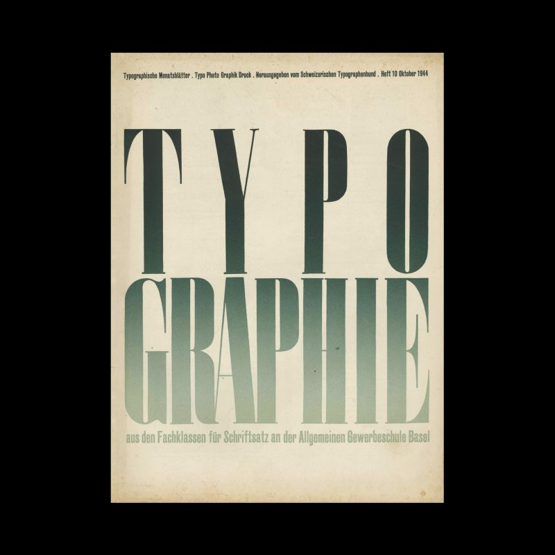 Typografische Monatsblätter, 10, 1944