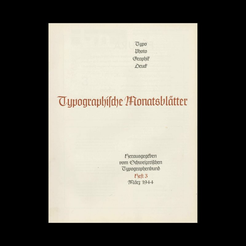 Typografische Monatsblätter, 3, 1944