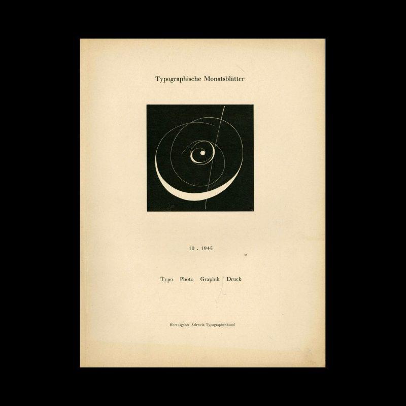 Typografische Monatsblätter, 10, 1945