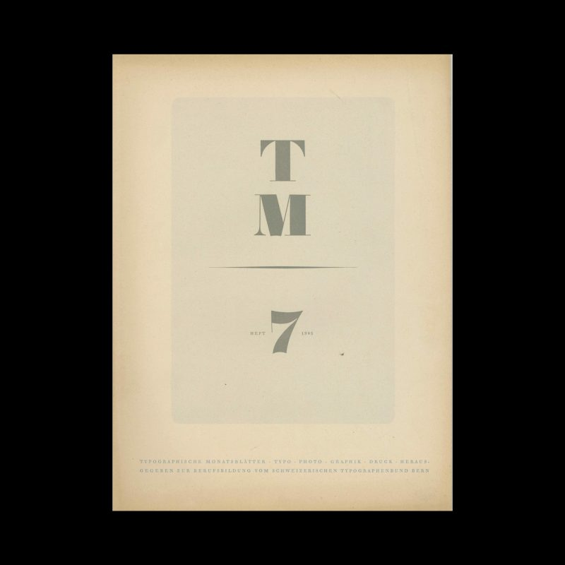 Typografische Monatsblätter, 7, 1945