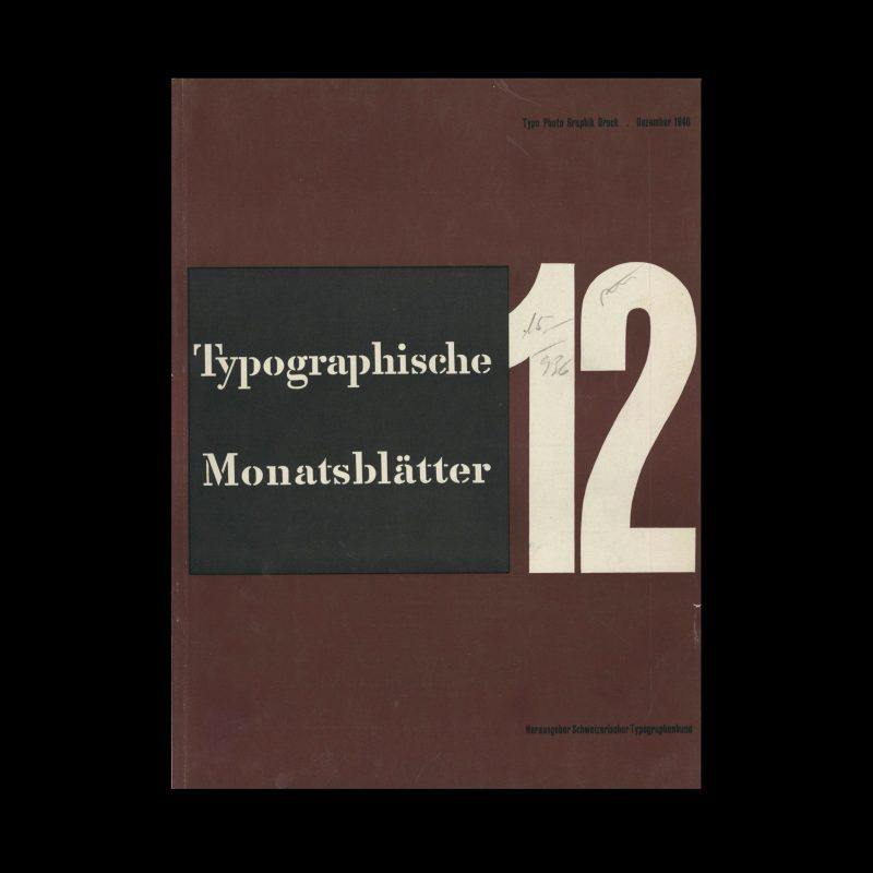 Typografische Monatsblätter, 12, 1946