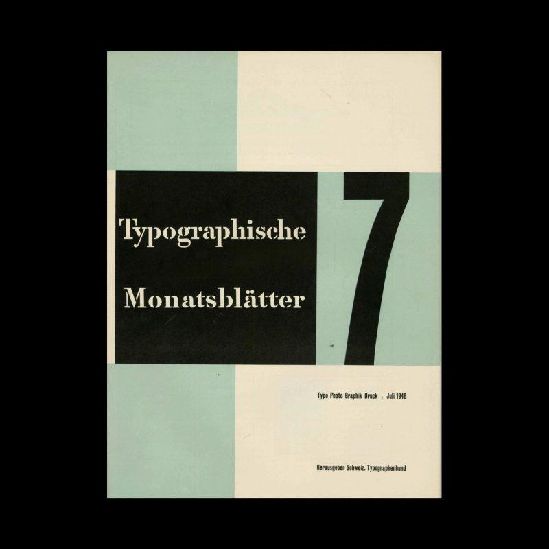 Typografische Monatsblätter, 7, 1946