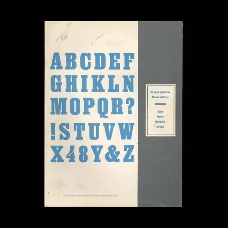 Typografische Monatsblätter, 10, 1947