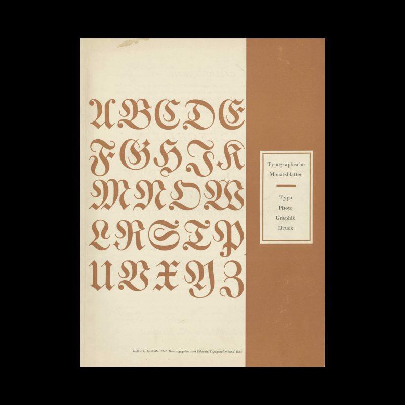 Typografische Monatsblätter, 4-5, 1947