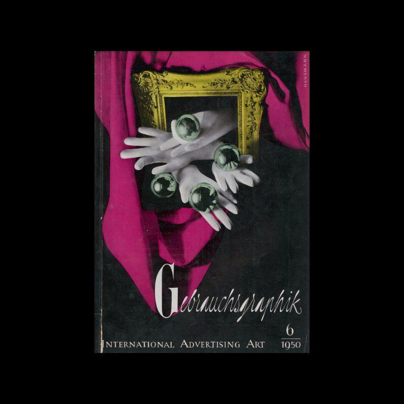 Gebrauchsgraphik, 6, 1950. Cover design by Claus Hansmann