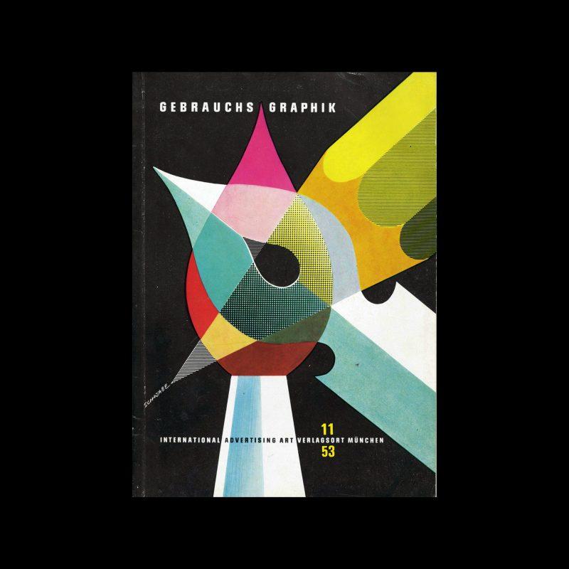 Gebrauchsgraphik, 11, 1953. Cover design by Schwabe