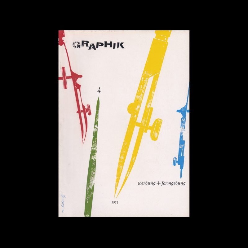Graphik - Werbung + Formgebung, 4, 1954. Cover design by Matthew Leibowitz