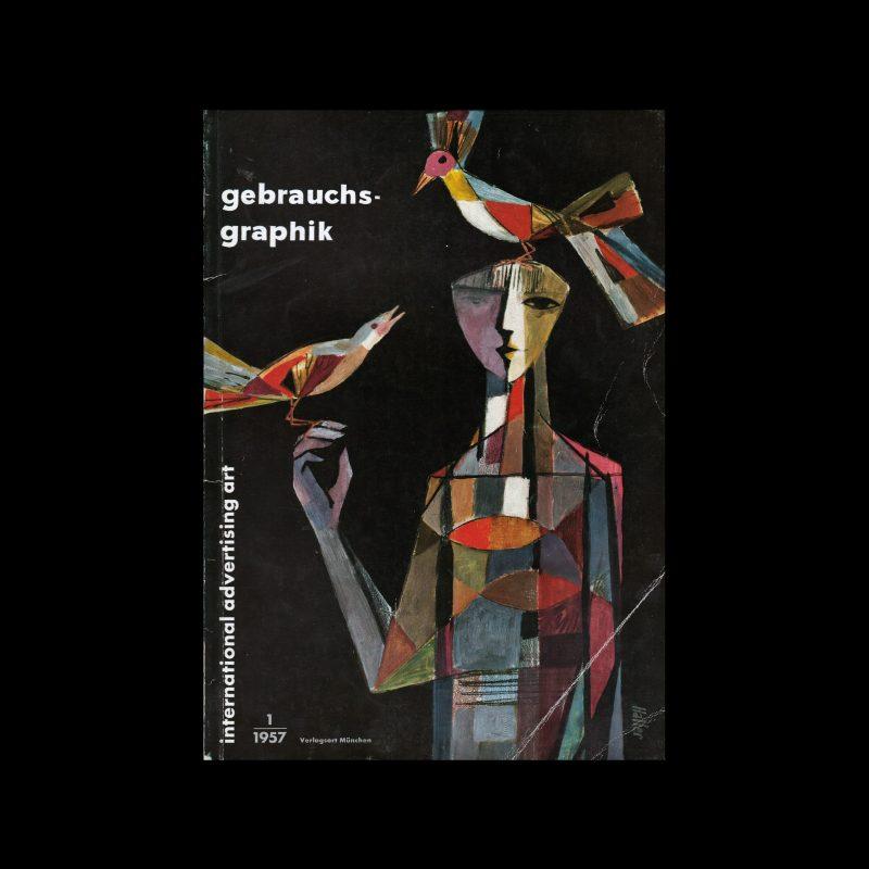 Gebrauchsgraphik, 1, 1957 cover design by Alfred Haller
