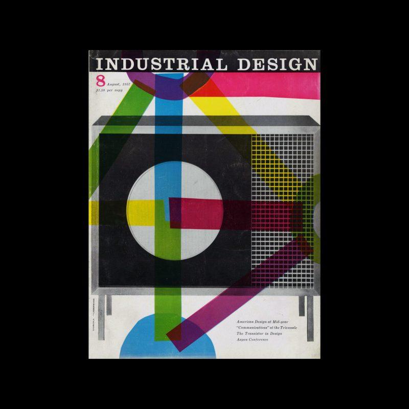 Industrial Design, August, 1957. Cover design by Jerry Lieberman and Romaldo Giurgola