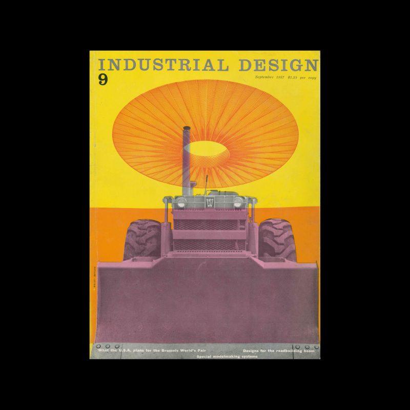 Industrial Design, September, 1957. Cover design by Matilde Lourie