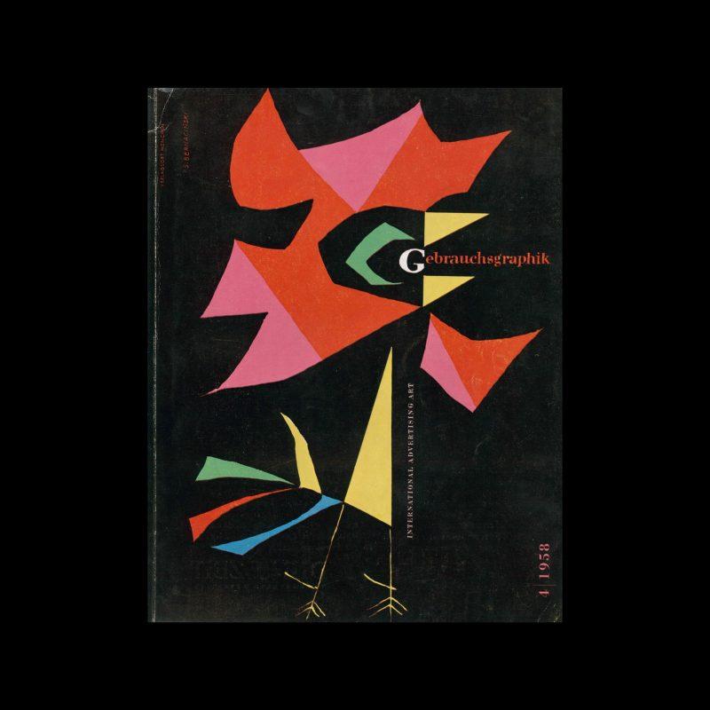 Gebrauchsgraphik, 4, 1958. Cover design by Stefan Bernacinski