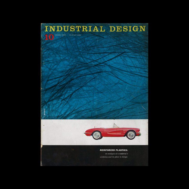 Industrial Design, October, 1958. Cover designed by James S Ward