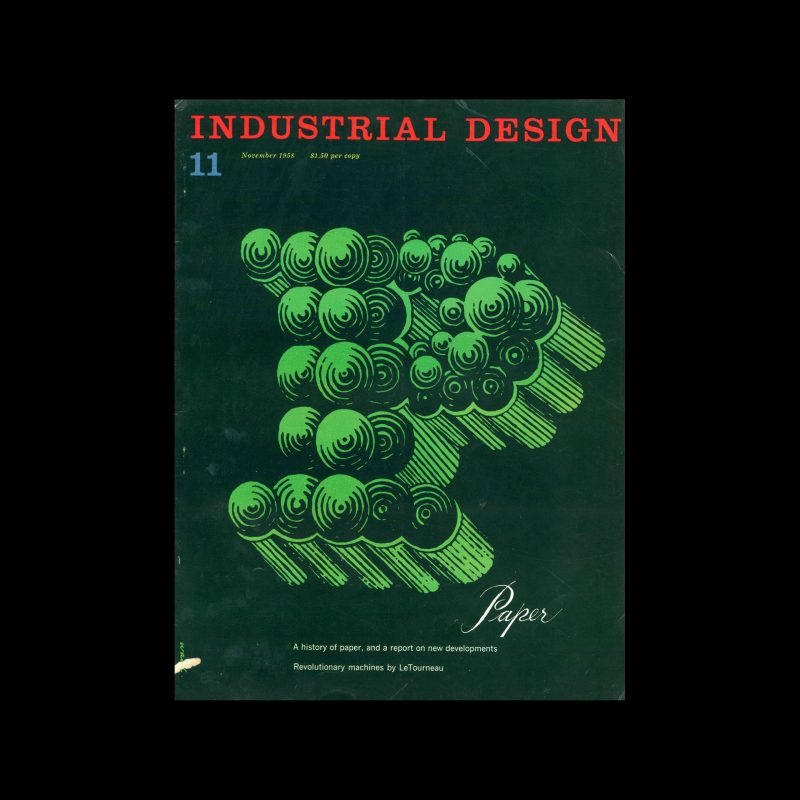 Industrial Design, November, 1958. Cover designed by James S Ward