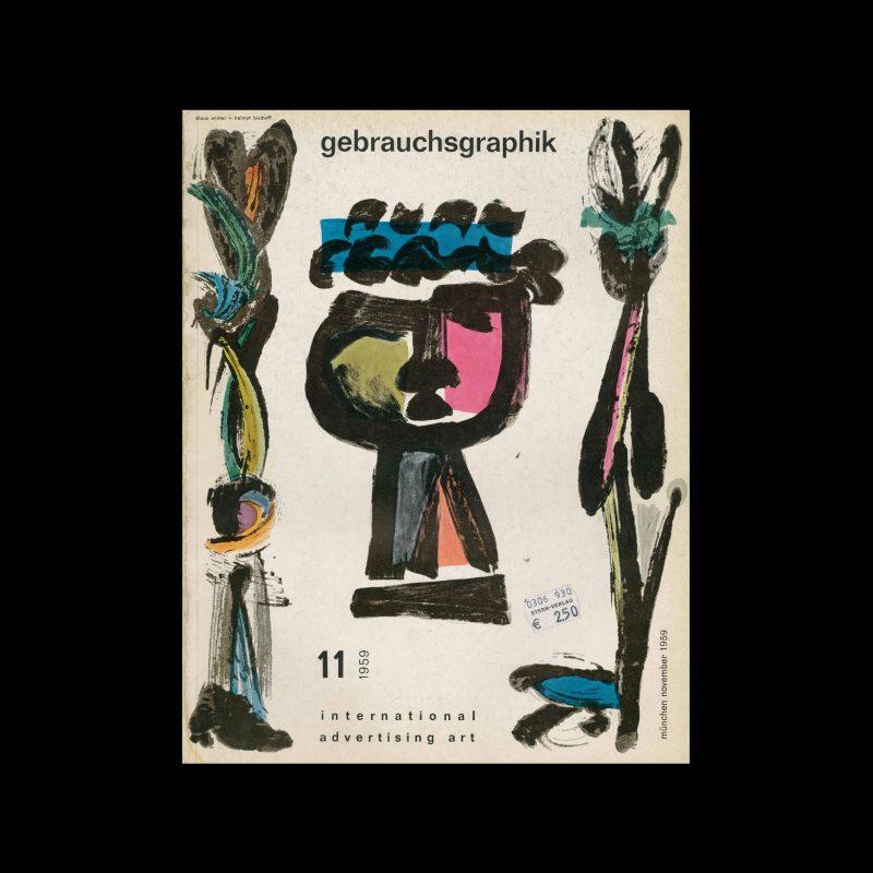 Gebrauchsgraphik, 11, 1959. Cover design by Klaus Winter and Helmut Bischoff