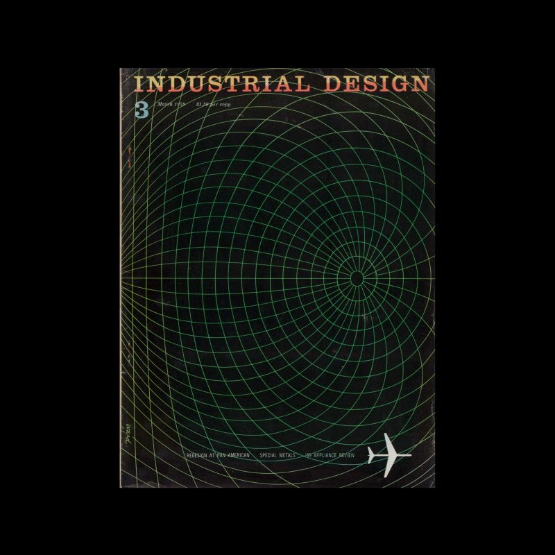 Industrial Design, March, 1959. Cover designed by James S Ward