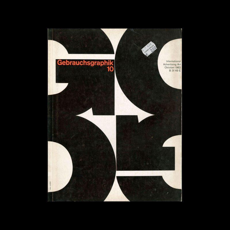 Gebrauchsgraphik, 10, 1962. Cover design by Lutz Roeder