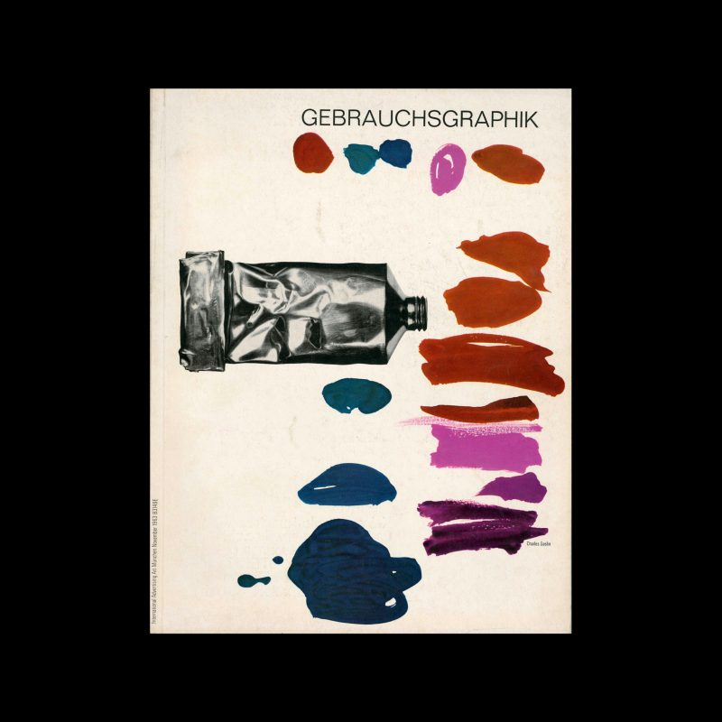 Gebrauchsgraphik, 11, 1963. Cover design by Charles Goslin