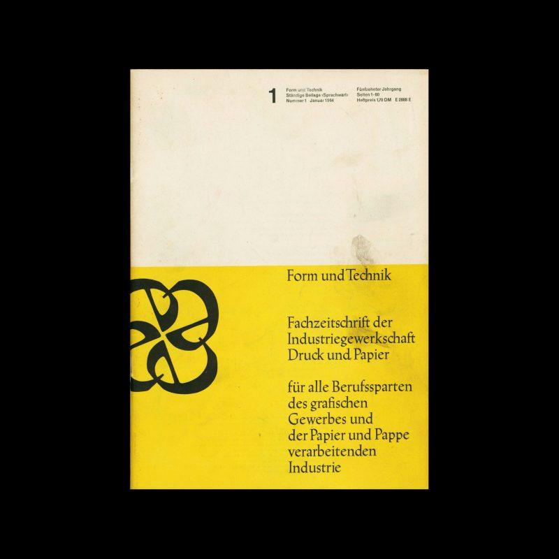Form und Technik, 1, 1964
