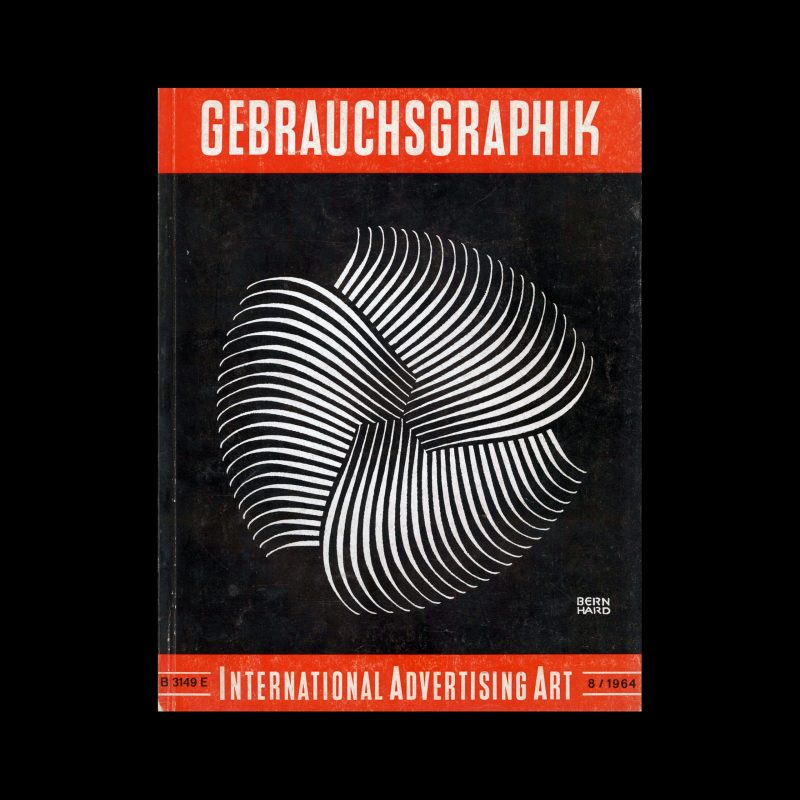 Gebrauchsgraphik, 8, 1964. Cover design by Lucian Bernhard