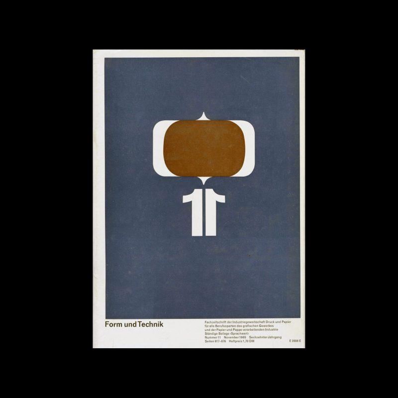 Form und Technik, 11, 1965