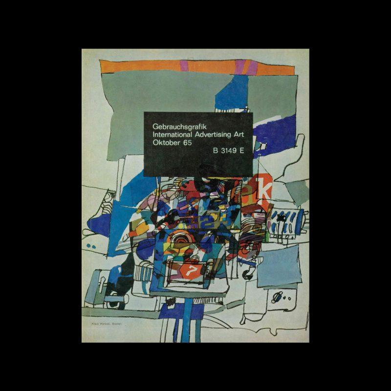 Gebrauchsgraphik, 10, 1965. Cover design by Klaus Warwas