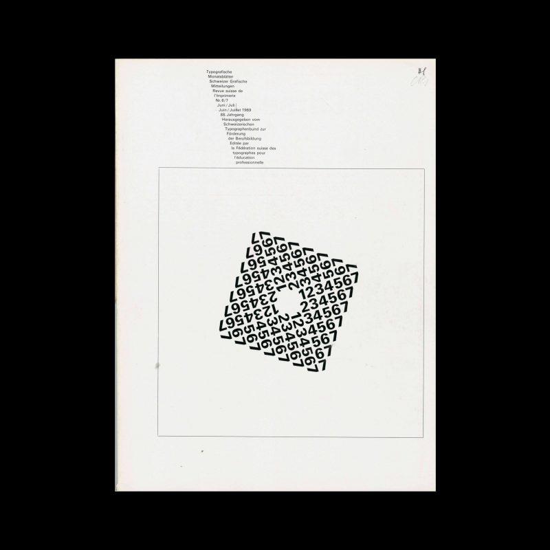 Typografische Monatsblätter, 6-7, 1969. Cover design by Theophil Stirnemann
