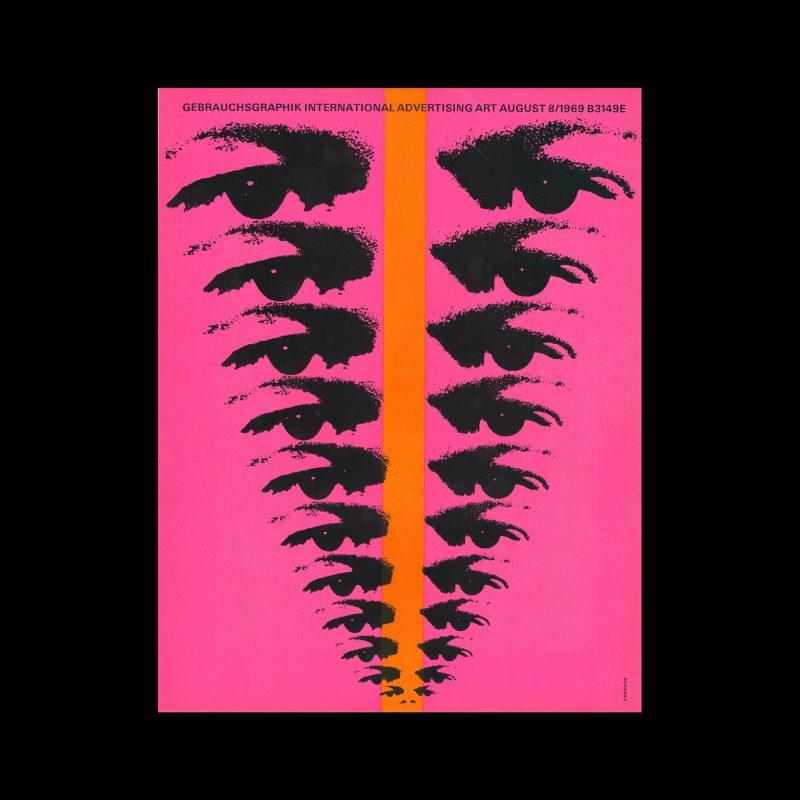 Gebrauchsgraphik, 8, 1969. Cover design by Roman Cieslewicz