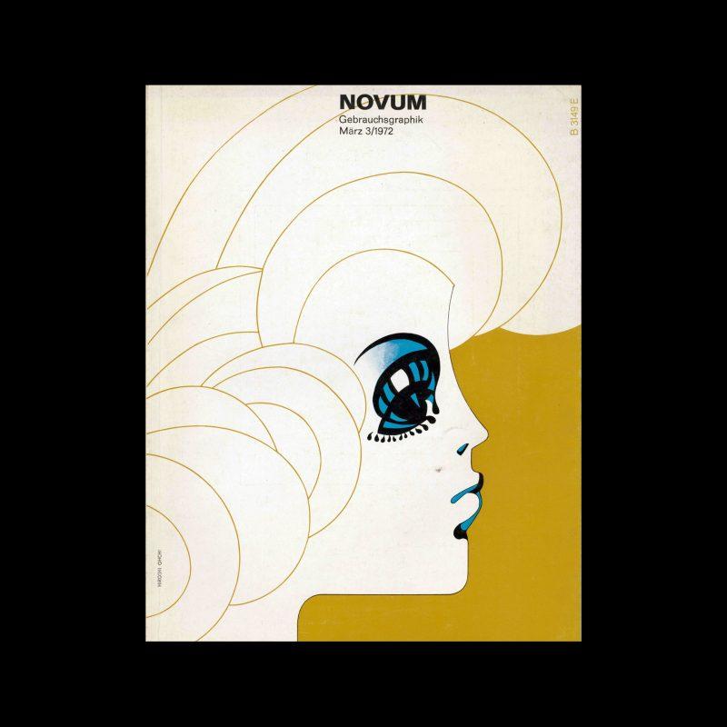 Novum Gebrauchsgraphik, 3, 1972. Cover design by Hiroshi Ohchi