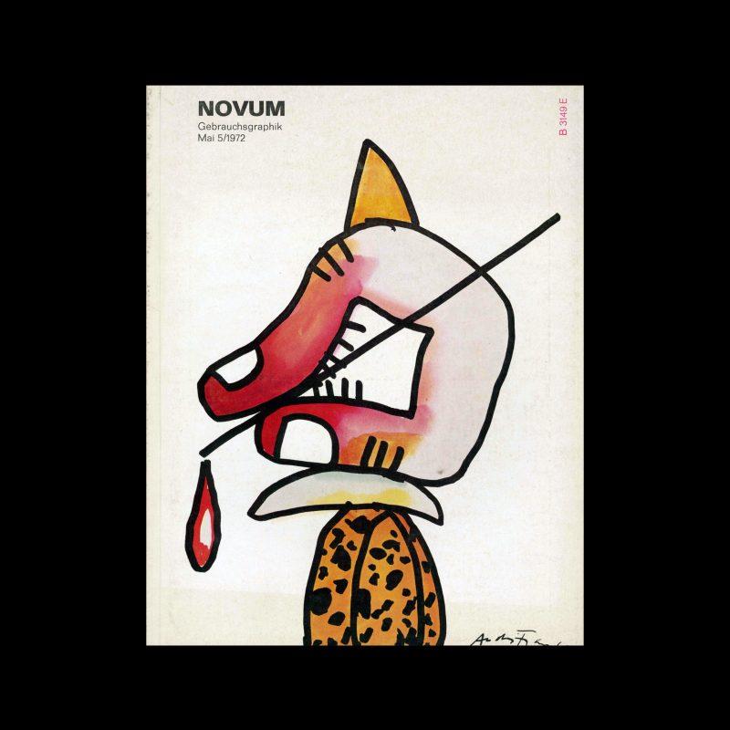 Novum Gebrauchsgraphik, 5, 1972. Cover design by André François
