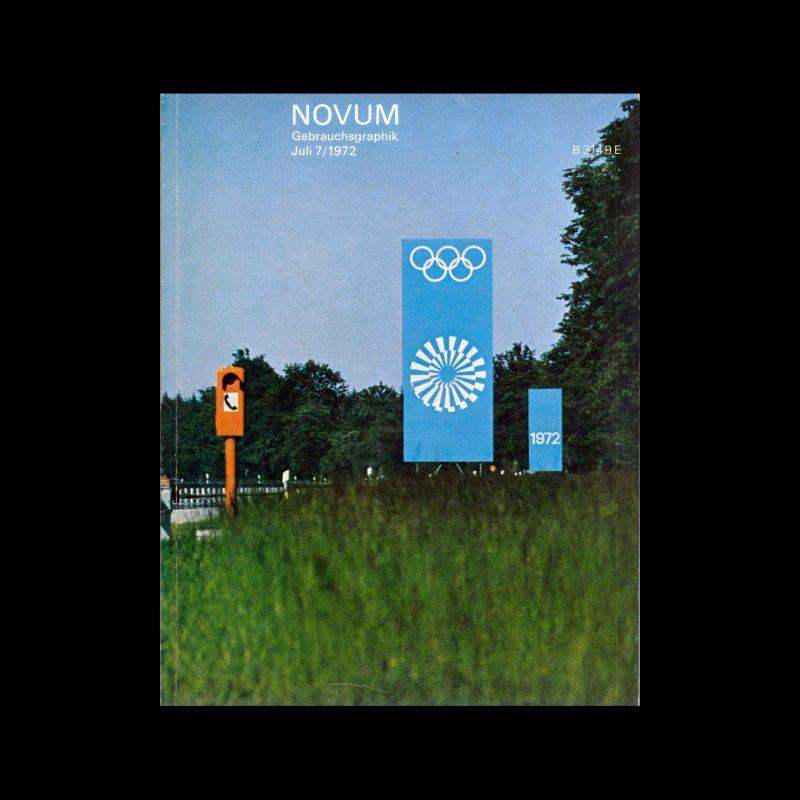 Novum Gebrauchsgraphik, 7, 1972. Olympics Special - Otl Aicher