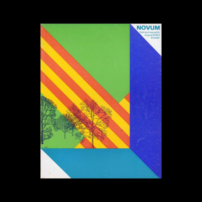 Novum Gebrauchsgraphik, 8, 1972. Cover design by H. Gehring