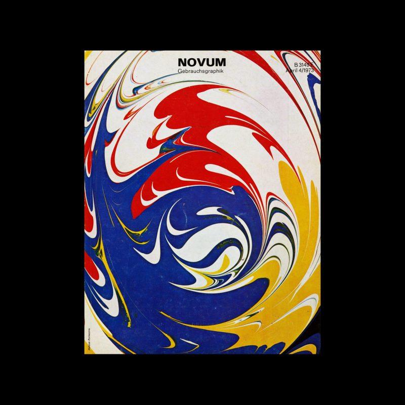 Novum Gebrauchsgraphik, 4, 1973. Cover design by Malaisé-Pontecorvo