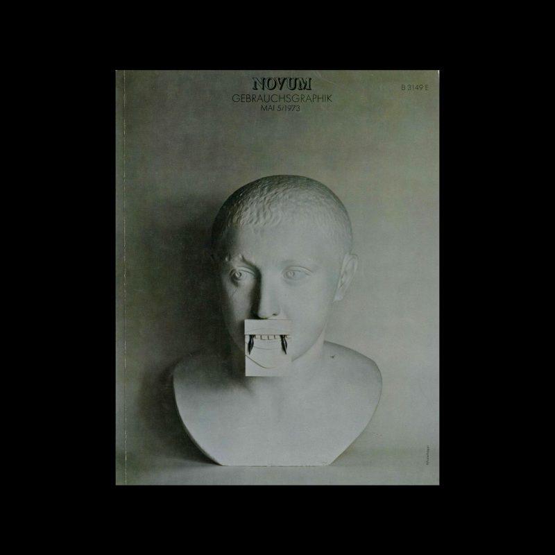 Novum Gebrauchsgraphik, 5, 1973. Cover design by Klaus Winterhager