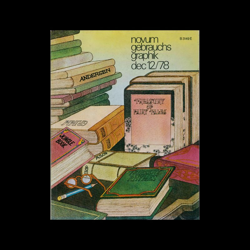 Novum Gebrauchsgraphik, 12, 1978. Cover Design by Nella Bosnia