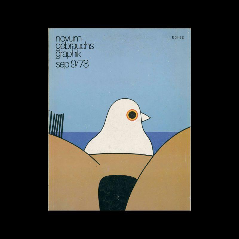 Novum Gebrauchsgraphik, 9, 1978. Cover Design by Luc Vanmalderen