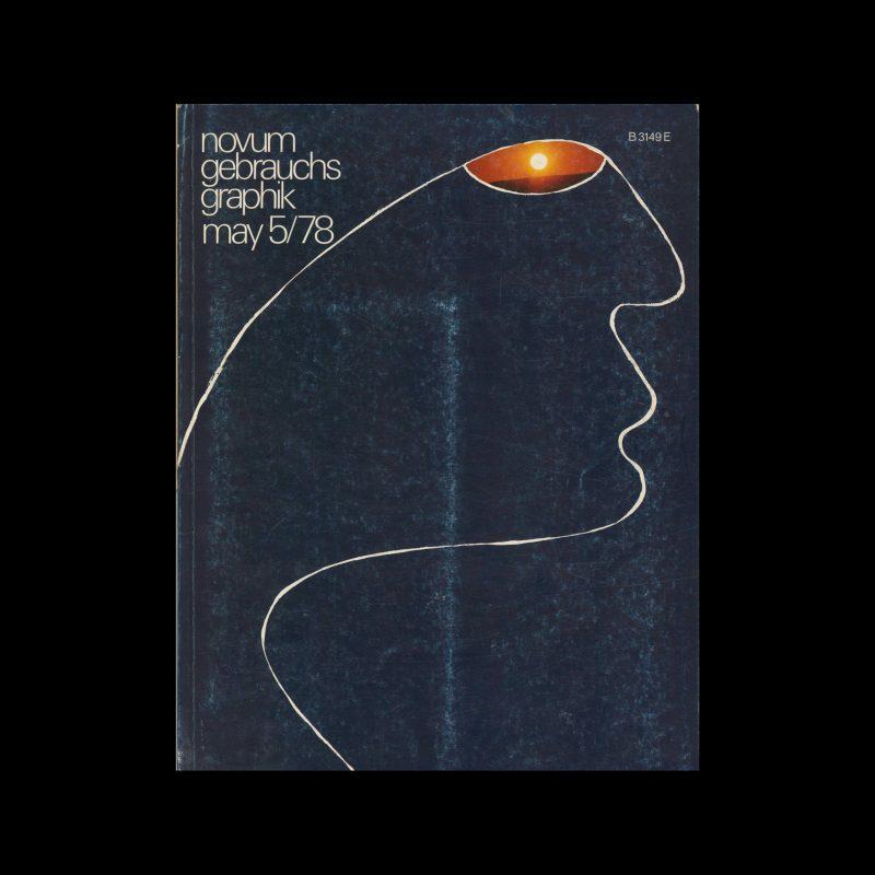 Novum Gebrauchsgraphik, 5, 1978. Cover design by Arie J Geurts