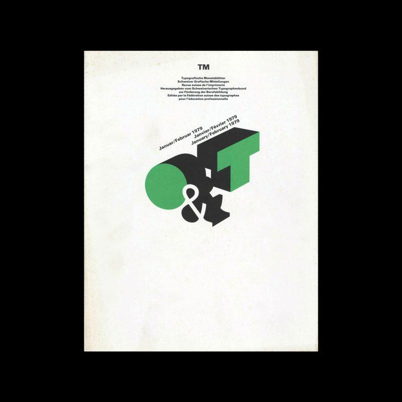 Typografische Monatsblätter, 1, 1979. Cover design by Odermatt & Tissi