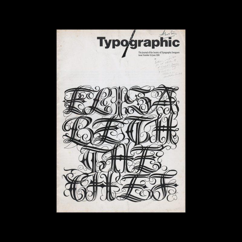Typographic, 16, June 1981