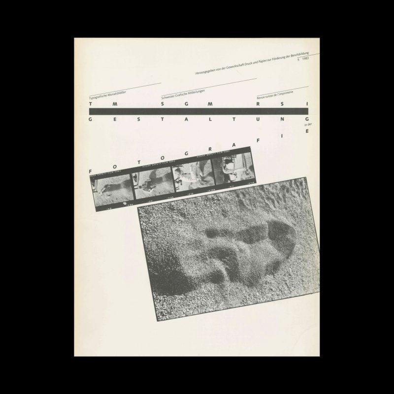 Typografische Monatsblätter, 5, 1983. Cover design Hans Rudolf Bosshard