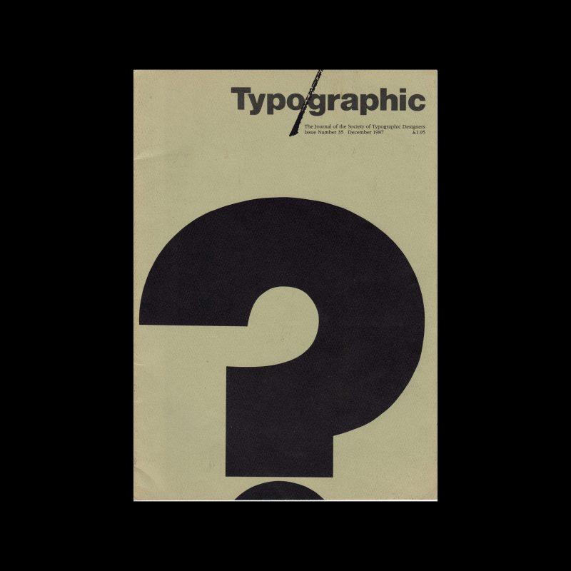 Typographic, 35, December 1987