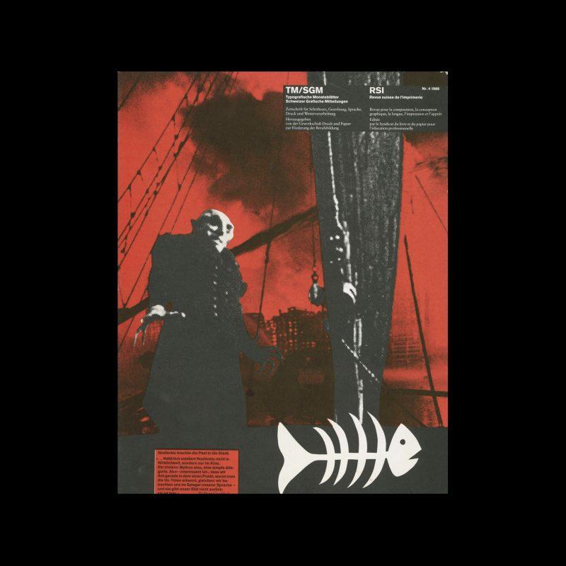 Typografische Monatsblätter, 4, 1988. Cover design by Romano Hänni