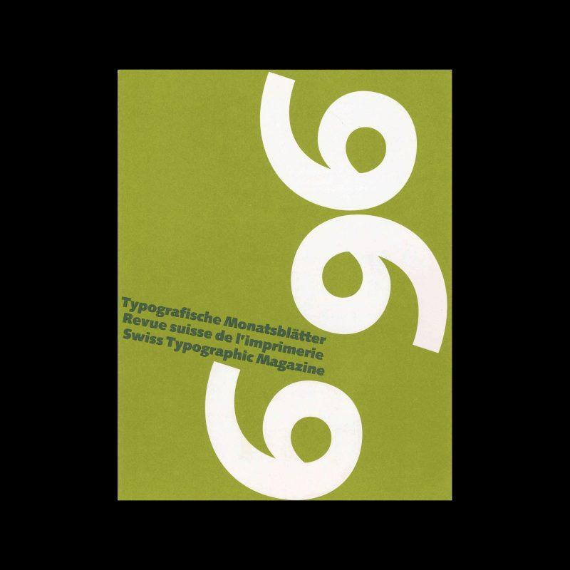 Typografische Monatsblätter, 6, 1996