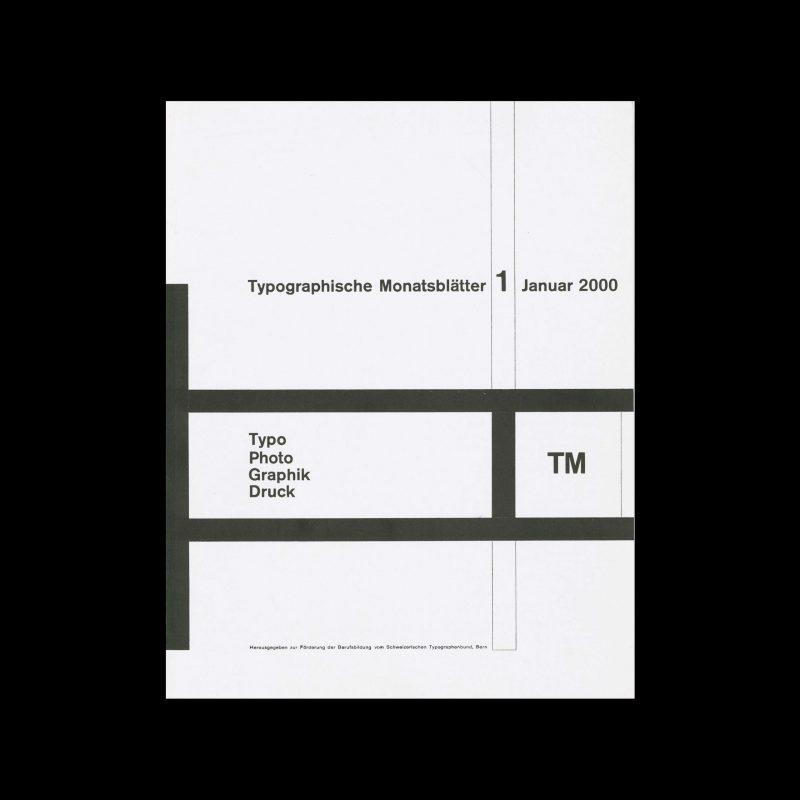 Typografische Monatsblätter, 1, 2000. Cover design by Richard Paul Lohse