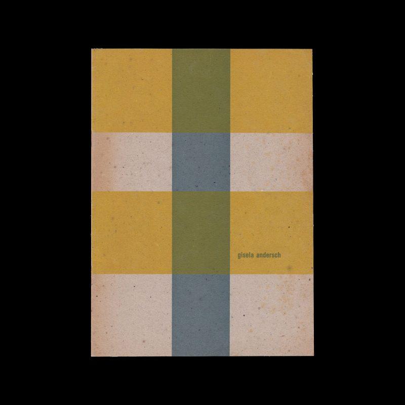 Gisela Andersch, Stedelijk Museum Amsterdam, 1961 designed by Willem Sandberg