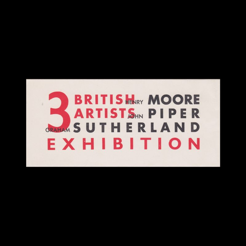 3 British Artists Exhibition, Leicester Museum and Art Gallery, 1941