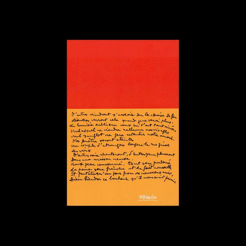 Bissière, Stedelijk Museum, Amsterdam, 1966 designed by Wim Crouwel and Anneke Huig (Total Design)